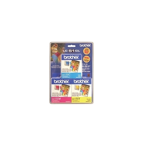 Brother LC51 Color 3pk (LC-51 Color 3pk) OEM Ink Cartridge