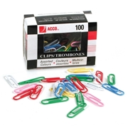 ACCO Brands Corporation Acco Vinyl Coated Color Paper Clip