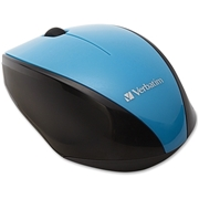 Verbatim America, LLC Verbatim Wireless Notebook Multi-Trac Blue LED Mouse - Blue