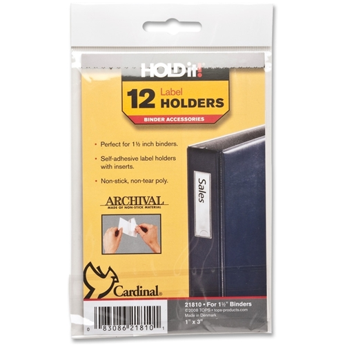 TOPS Products Cardinal HOLDit! Label Holders
