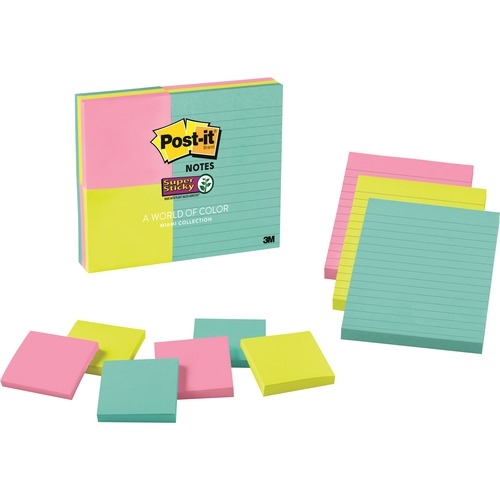 3M Post-it® Super Sticky Notes - Miami Color Collection