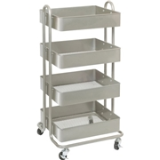 Lorell Storage Basket Cart