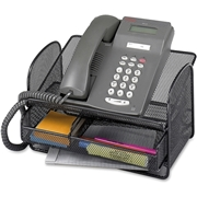 Safco Products Safco Onyx Mesh Telephone Stand with Drawer