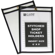C-Line Stitched Plastic Shop Ticket Holder