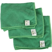 "Globe Commercial Products Globe 16""x16"" Microfiber Cloth 240GSM Green"