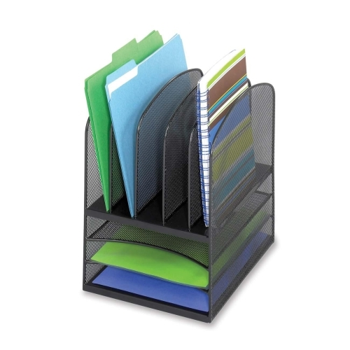 Safco Products Safco 3266BL Mesh Letter Tray Desktop Organizer