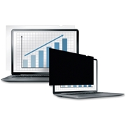 "Fellowes Laptop/Flat Panel Privacy Filter - 19.0"" Black"