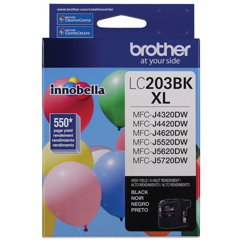 Brother LC-203 BKS (LC203BKS High Yield) OEM Ink Cartridge