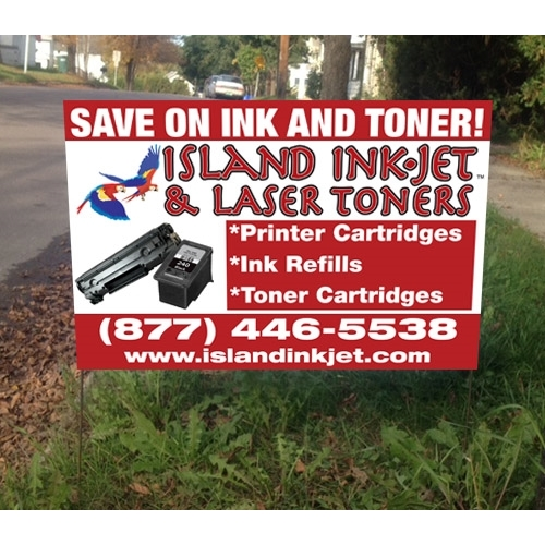 Island Ink-Jet Lawn Sign Design 2