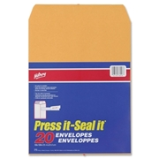 ACCO Brands Corporation Hilroy Hilroy Press-It Seal-It Kraft Adhesive Envelopes
