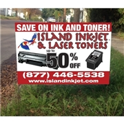 Island Ink-Jet Lawn Sign Design 1