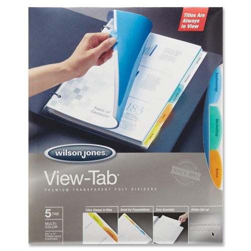 ACCO Brands Corporation Wilson Jones View-Tab Transparent Dividers