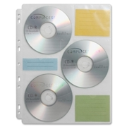 Compucessory CD/DVD Ring Binder Storage Pages
