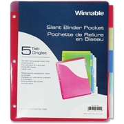 Winnable 5-Tab Slant Binder Pocket