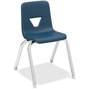 """Lorell 14"""" Seat-height Stacking Student Chairs - 4/CT"""