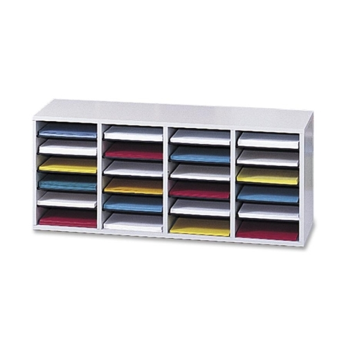 Safco Products Safco 24 Compartment Adjustable Shelves Literature Organizer