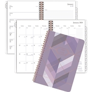 ACCO Brands Corporation At-A-Glance Cambridge Purple Fractal Weekly-Monthly Planner