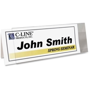 C-Line Products, Inc C-Line Rigid Name Tent Holder