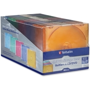 Verbatim America, LLC Verbatim CD/DVD Color Slim Jewel Cases, Assorted - 50pk