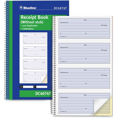 Dominion Blueline, Inc Blueline Receipt Form Book