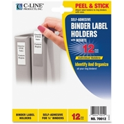 C-Line Products, Inc C-Line Self-Adhesive Binder Label Holder
