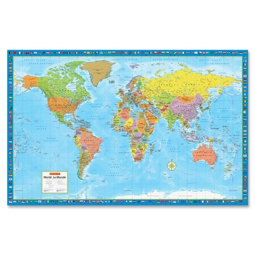 Canadian Cartographics Corporation CCC Super Large Wall Map