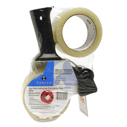 Sparco Products Sparco Two Roll Packaging Tape with Pistol Grip Dispenser