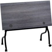 Lorell Charcoal Flip Top Training Table