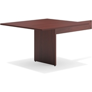 Basyx by HON Mahogany Slab Base End Table