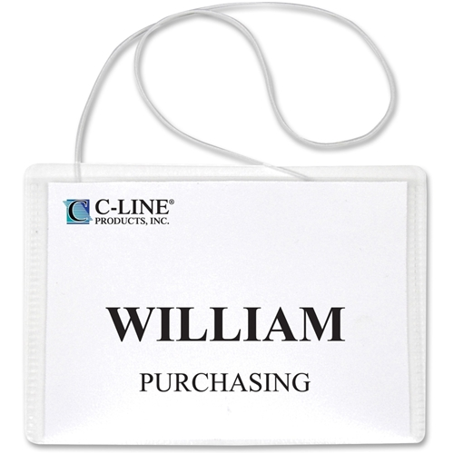 C-Line Products, Inc C-Line Hanging Style Name Badge Holder
