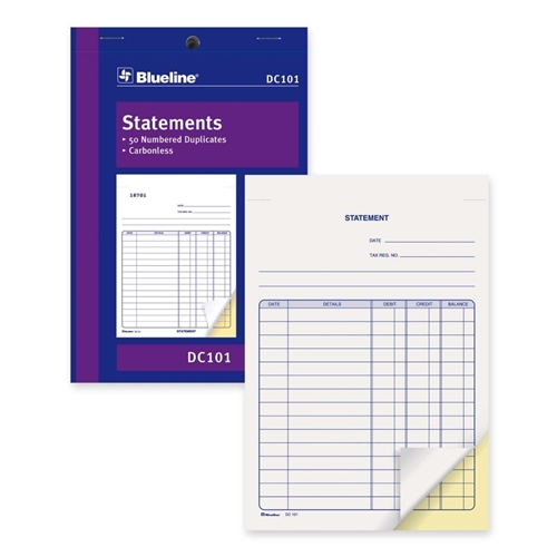 Dominion Blueline, Inc Blueline DC101 Statement Book