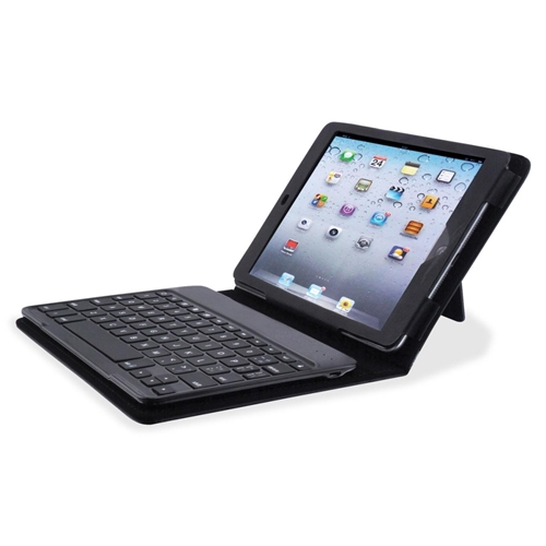 Compucessory Keyboard/Cover Case (Portfolio) for iPad mini - Black