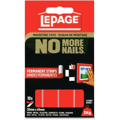 LePage No More Nails Mounting Tape Permanent Strips
