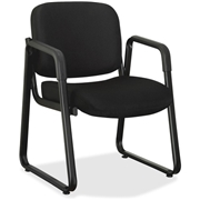 Lorell Black Fabric Guest Chair