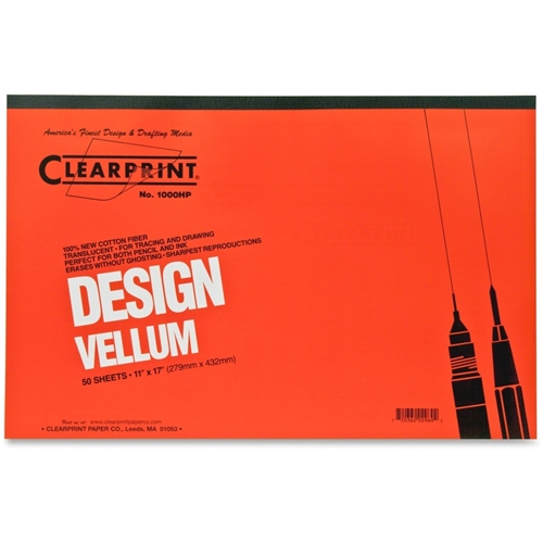 Chartpak, Inc Clearprint Plain Vellum Pad