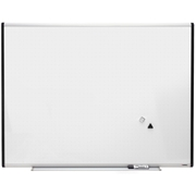 Lorell Signature Magnetic Dry Erase Board with Grid Lines
