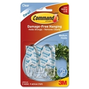 Command Clear Medium Hooks with Clear strips
