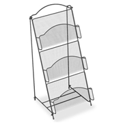 Safco Products Safco Onyx Mesh Literature Floor Rack