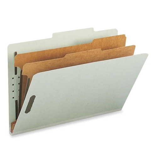 Smead Manufacturing Company Smead 19022 Gray/Green 100% Recycled Pressboard Colored Classification Folders