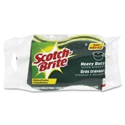 3M Scotch-Brite Heavy-Dty Green Fiber Scrub Sponge