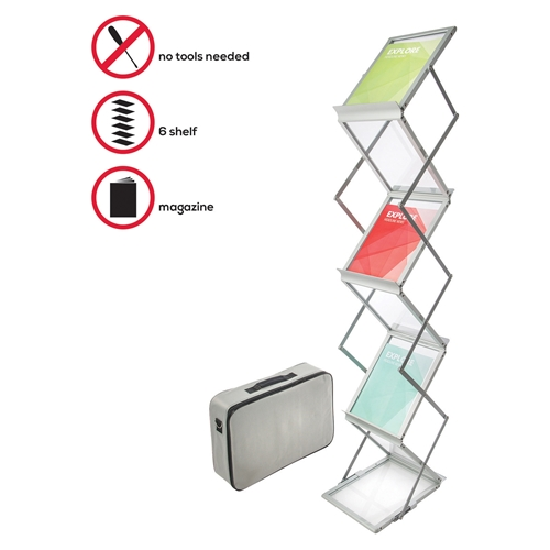 Deflecto Corporation Deflect-o Collapsible Literature Floor Stand