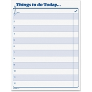 TOPS Products TOPS Things To Do Today Pad