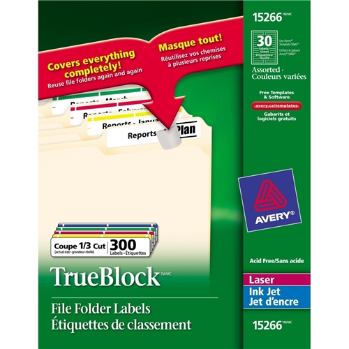 Avery TrueBlock File Folder Label