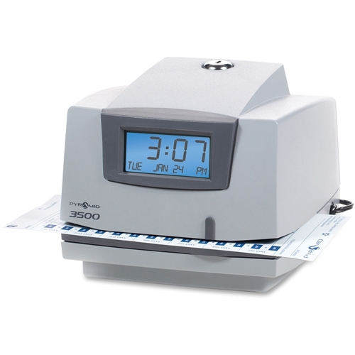 Pyramid Time Systems Pyramid 3500 Time Clock & Document Stamp