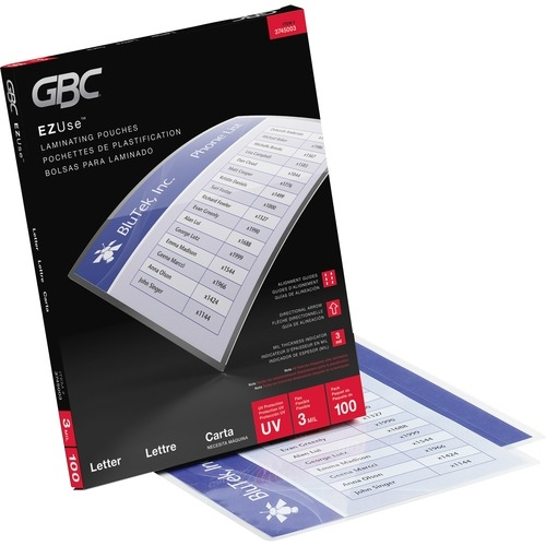 ACCO Brands Corporation GBC EZUse Thermal Letter-size 3m Laminating Pouch