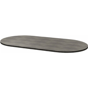 Heartwood Manufacturing Heartwood Small Grey Racetrack Conference Table