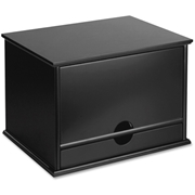 Victor Midnight Black Desktop Organizer
