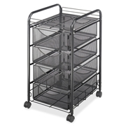 Safco Products Safco Onyx Double Mesh Mobile File Cart