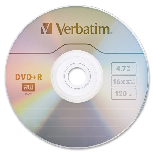 Verbatim America, LLC Verbatim AZO DVD+R 4.7GB 16X with Branded Surface - 50pk Spindle