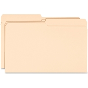 Business Source 1/2-cut Tab Legal Manila File Folders